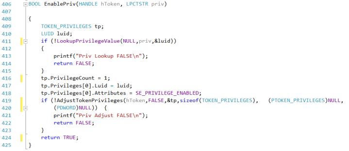 enablepriv