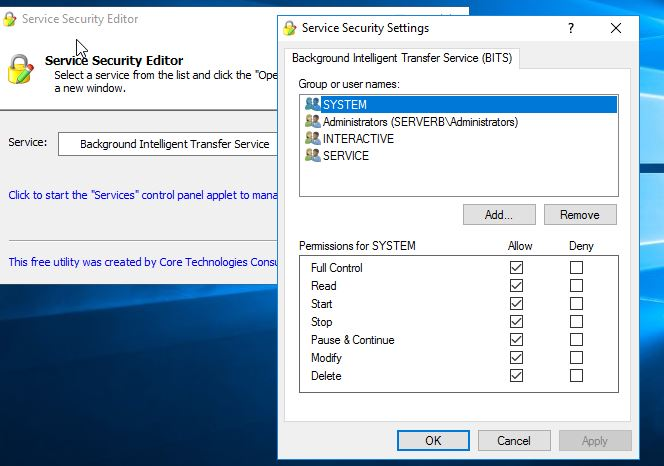"Demystifying Windows Service ""permissions"" configuration"